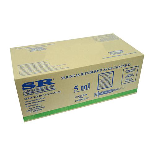 Caixa Seringa desc. 5ml c/ag slip