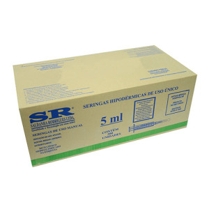 Caixa Seringa desc. 5ml s/ag