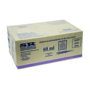 Caixa Seringa desc. 60ml s/ag slip
