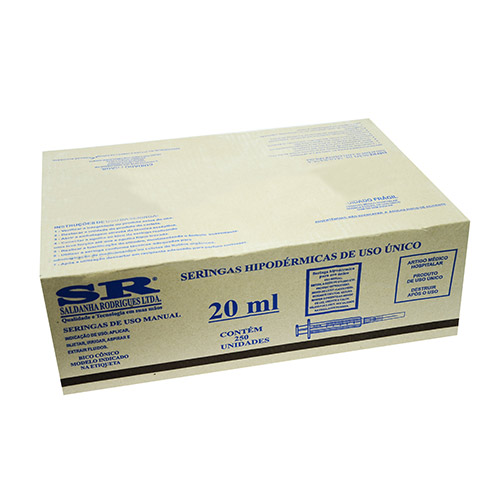 Caixa Seringa desc. 20ml s/ag slip